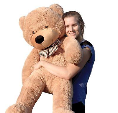 "Joyfay® 47"" 120 cm Brown Giant Teddy Bear Big Huge Stuffed Toy Christmas Gift"