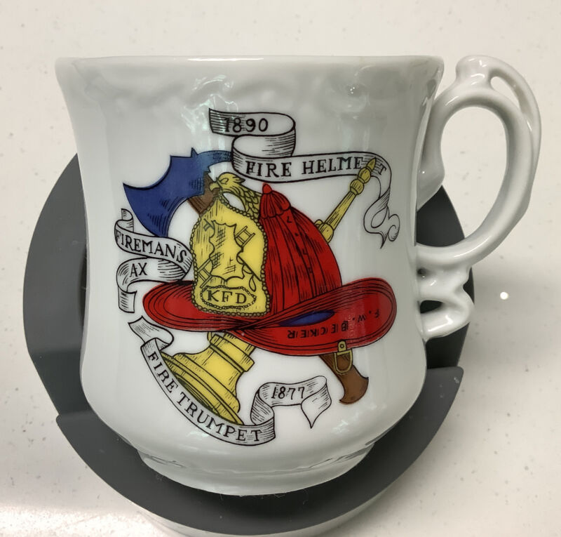 Royal Crown Fireman's Helmet Cup/Shaving Mug