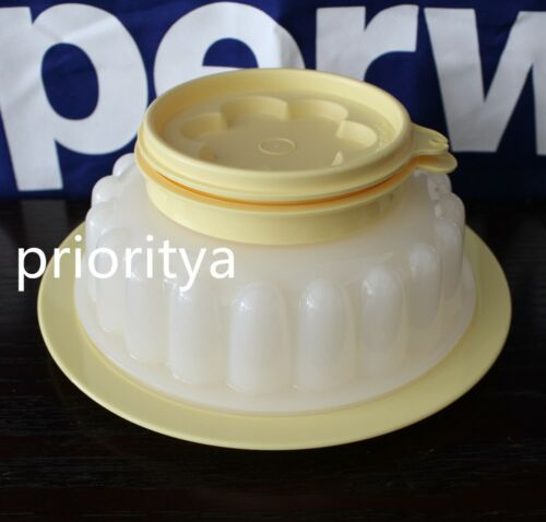 Tupperware Small / Mini Gelatin Jello Jel-Ring Mold 500ml Light Yellow New