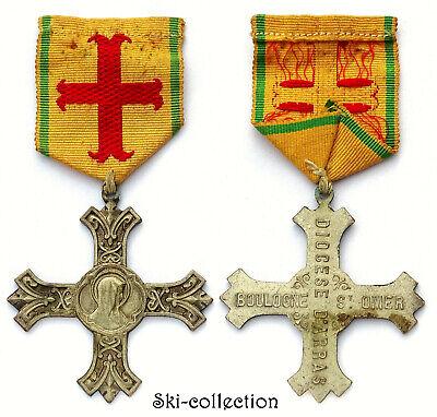 Medal, cross of Diocese D'Arras. Boulogne St. Omer. Merit Diocésain. Bronze