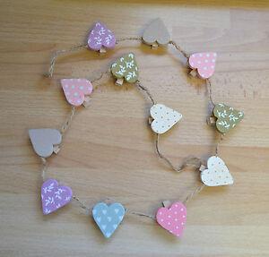 Gisela-Graham-Mini-Heart-Wooden-Peg-Garland-Heartfelt-Bunting-90-CM-Easter