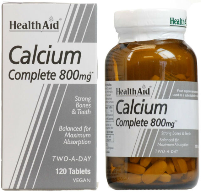 HEALTH AID CALCIUM COMPLETE 800MG - 120 TABLETS
