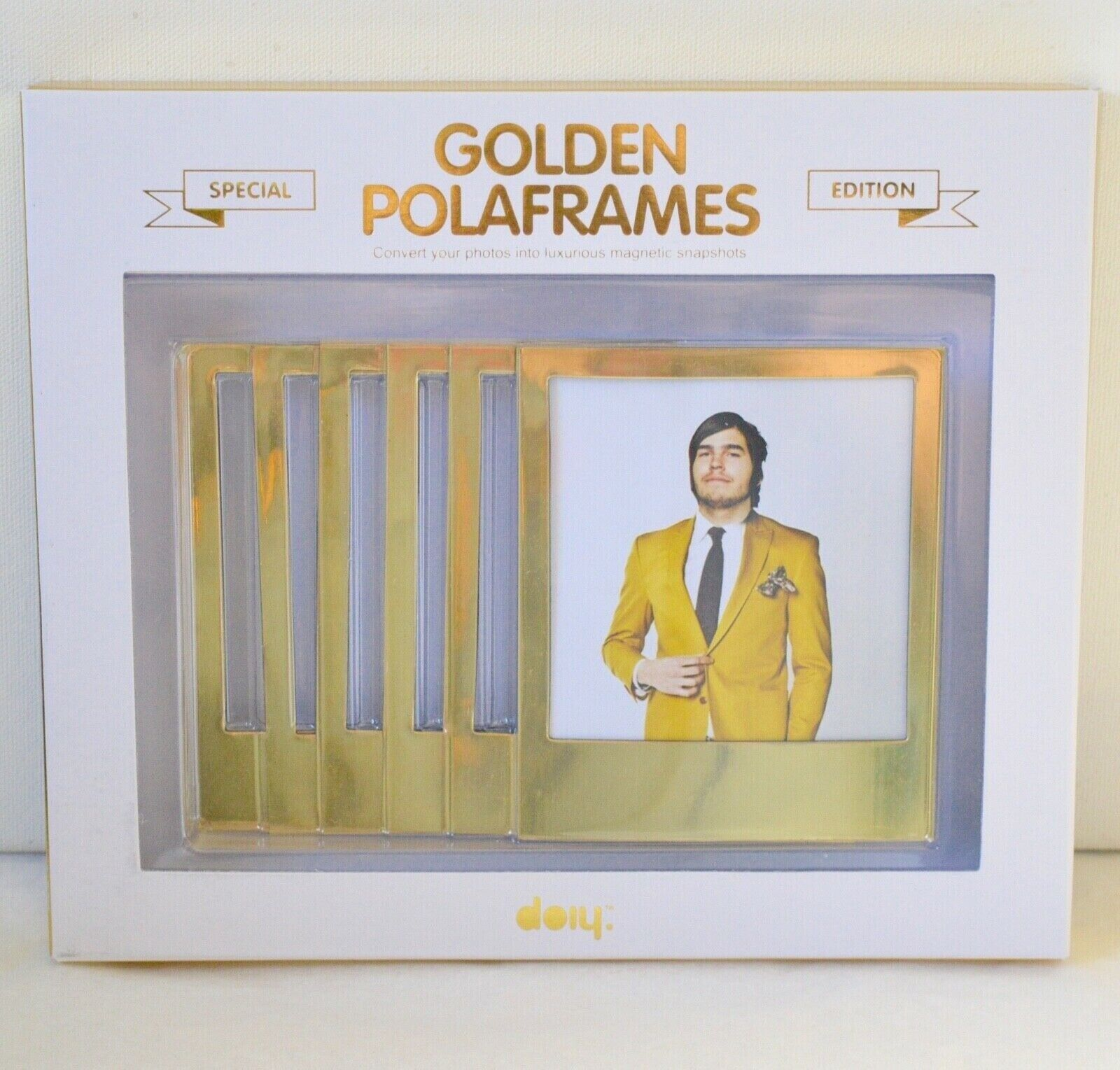 new golden polaframes special edition luxurious magnet