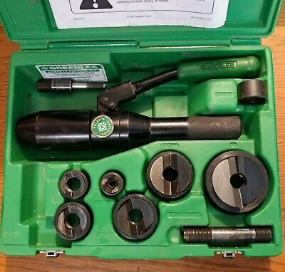 Greenlee Tool 7806sb 12 - 2 Quick Draw Hydraulic Knockout Punch Driver Set