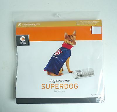Halloween Dog Costume Superdog Size Small 5 -15 lbs 2.3 -6.8 kg Dress Up Outfit