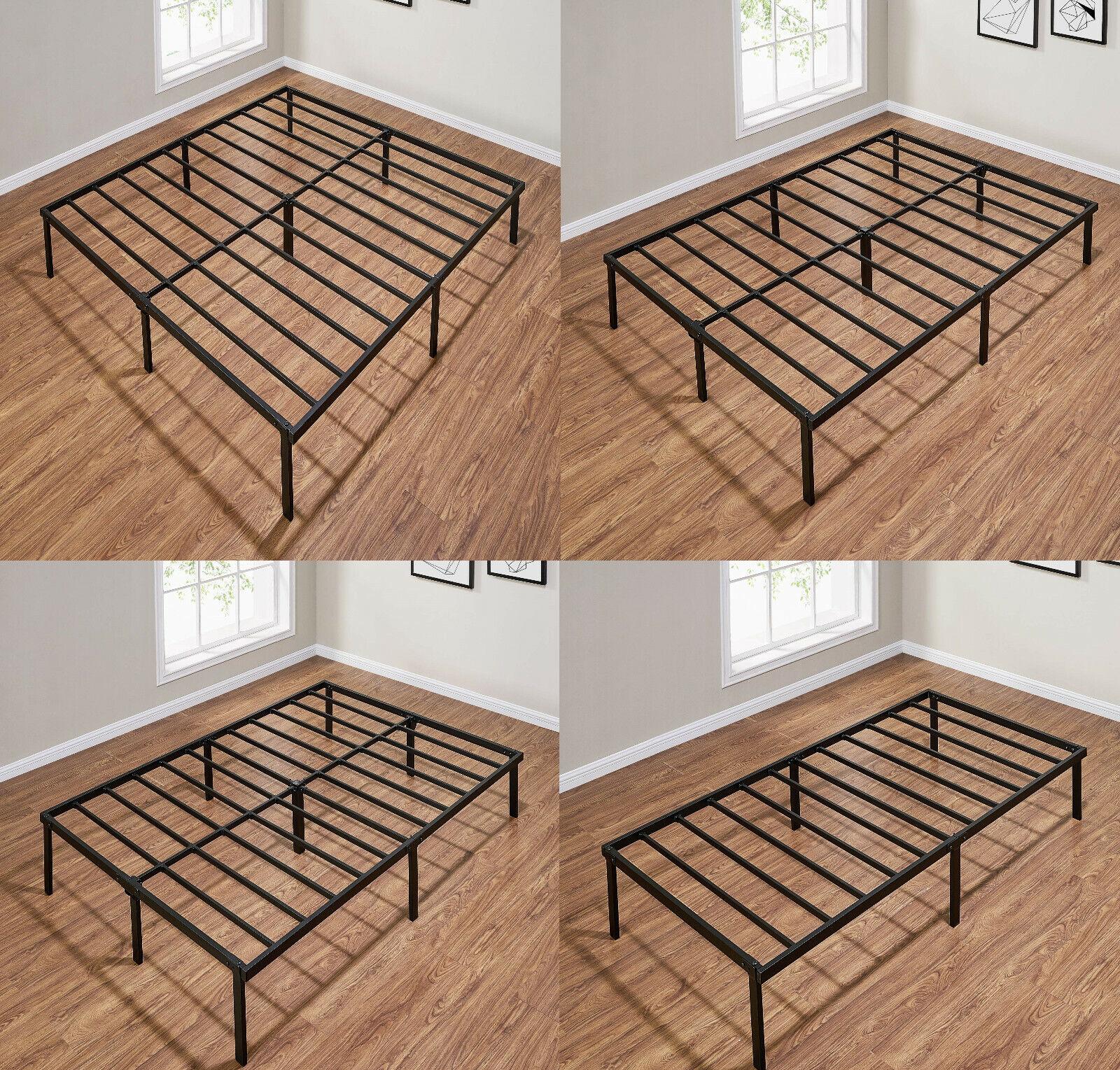 14 INCH HEAVY DUTY Slat Bed Frame, Multiple Size Metal Platf