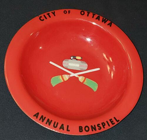 VINTAGE CURLING PORCELAIN BOWL CITY OF OTTAWA ANNUAL BONSPIEL FINDLAY - ORIGINAL