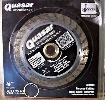 Newold Quasar Turbo Kut 4 Diamond Blade Right Angle Grinder Free Shipping