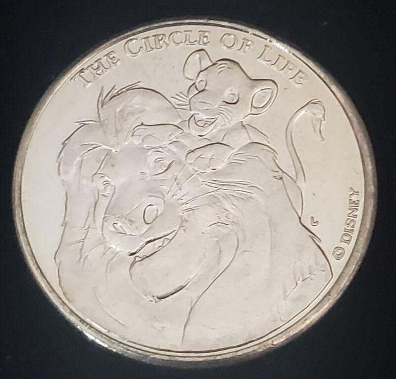 1994 DISNEY THE LION KING THE CIRCLE OF LIFE MUFASA  AND SIMBA LIBERTY MINT COIN