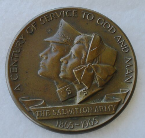 "The Salvation Army ""A Century of Service to God & Man"" 1865-1965 Bronze Medal"