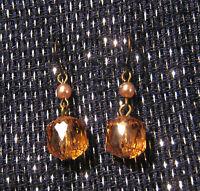 Pretty Chic Earrings With Orange Bead Decoration - orange - ebay.co.uk