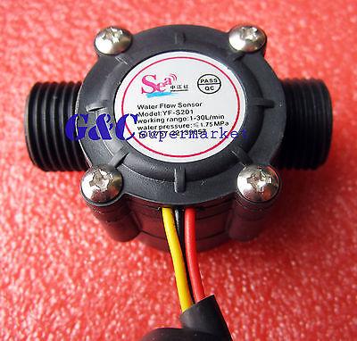 Water flow sensor flowmeter Hall flow sensor Water control DN15 1-30L/min M100