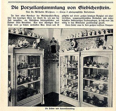 Die Porzellansammlung von Giebichenstein Bild-Report von 1914