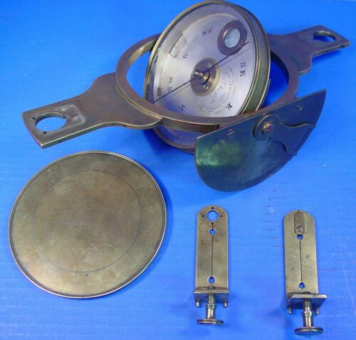 1850 James Reed & Company Gimbaled Surveyors Mining Compass Vertical Arc