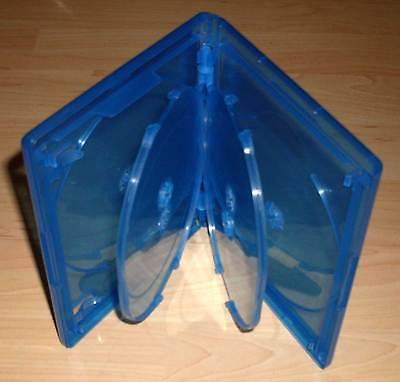 3 Blu Ray Hüllen Sechsfach 6fach 6-fach blau Blu-Rays 6er 6 15 mm 1,5 cm Neu
