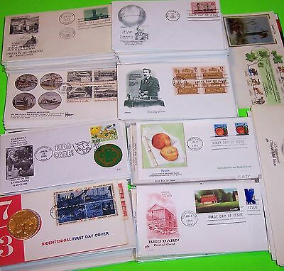HUGE LOT 400+ FIRST DAY COVERS, MANY CACHETS; COLORANO, ARTCRAFT, FARNAM, & MORE