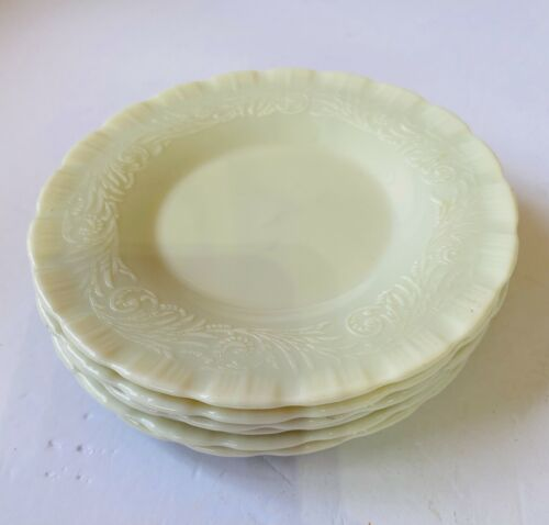 Vintage Ivory Chinex Sherbet Plates MacBeth Evans Set of 6 1930