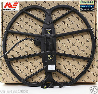 """New NEL BIG 15""""x17"""" DD coil for Minelab Sovereign/Excalibur + coil cover + bolt"""