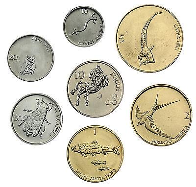 Slowenien 8,80 Tolar 1993 bis 2000 bfr. Münzsatz aus 7 Münzen