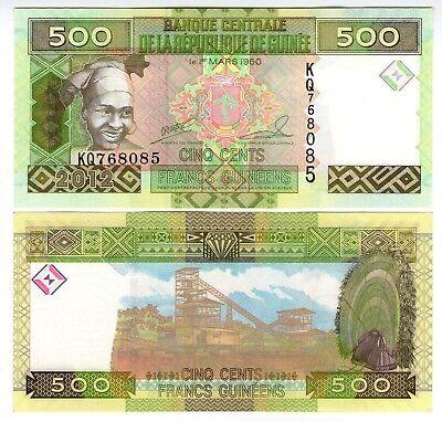 **   GUINEE     500  francs G   2012   p-39b    UNC   **