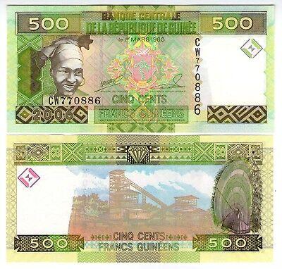 **   GUINEE     500  francs G   2006   p-39a    UNC   **