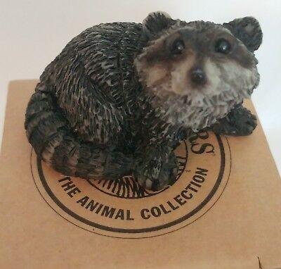 Small Raccoon Figurine porcelain - stone -