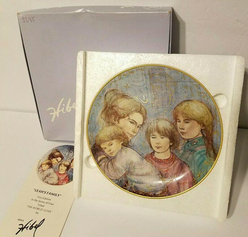 """VTG Edna Hibel Mother The World I Love Collector Plate, """"Leah"""