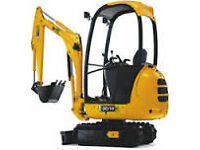 Mini Digger Hire for Private/Commercial and Construction Services