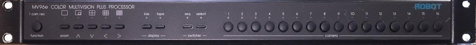 Robot MV96E Multivision Pro 16-Camera TRU Color Duplex MultipLexer Warranty