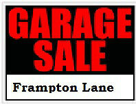 Multi family garage sale! Frampton Lane