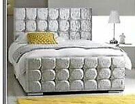BRAND NEW crushed velvet single bed