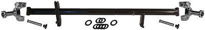 "NEW SPRINT CAR FRONT AXLE,SPINDLE,& KING PIN SET,LIGHTWEIGHT BLACK,50"" X 2 1/2"""