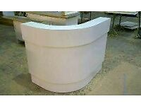 White gloss reception desk NEW curved furniture chairs