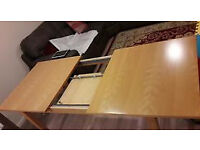 solid wood extendable dining table for 6-8 people