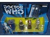 DOCTOR WHO METAL FIGURES BOXED 40TH ANNIVERSARY