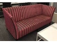 2 large Pink Aria Davison Highley Angel Sofas - ideal for office use