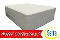 Brand NEW SERTA Valet Firm Mattress Set! Call 709-726-6466!