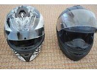 For sale 2 helmets Shark size large . HJC size medium/large Good condition!!!