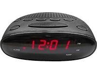 Argos Value Alarm Clock Radio - Black