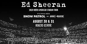 Ed Sheeran - Two Tickets - August 31 - Level 100