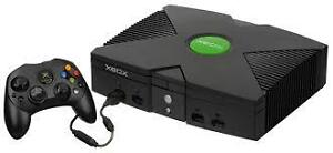 X-Box with controller and game