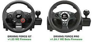 PS3 Logitech driving force pro racing wheel force feed back