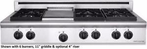 Plaque de cuisson Style Pro au gaz 36'', Stainless, American Range