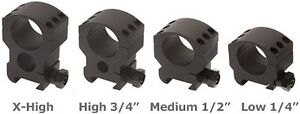 Weaver-30mm-1-inch-6-Screw-Hole-Tactical-Scope-Rings-Mount-Air-Rifle-Fullbore