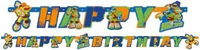 Ninja Turtle Themed Party (Boys Girls Birthday Party Ninja Turtles Themed 'Happy Birthday' Letters)