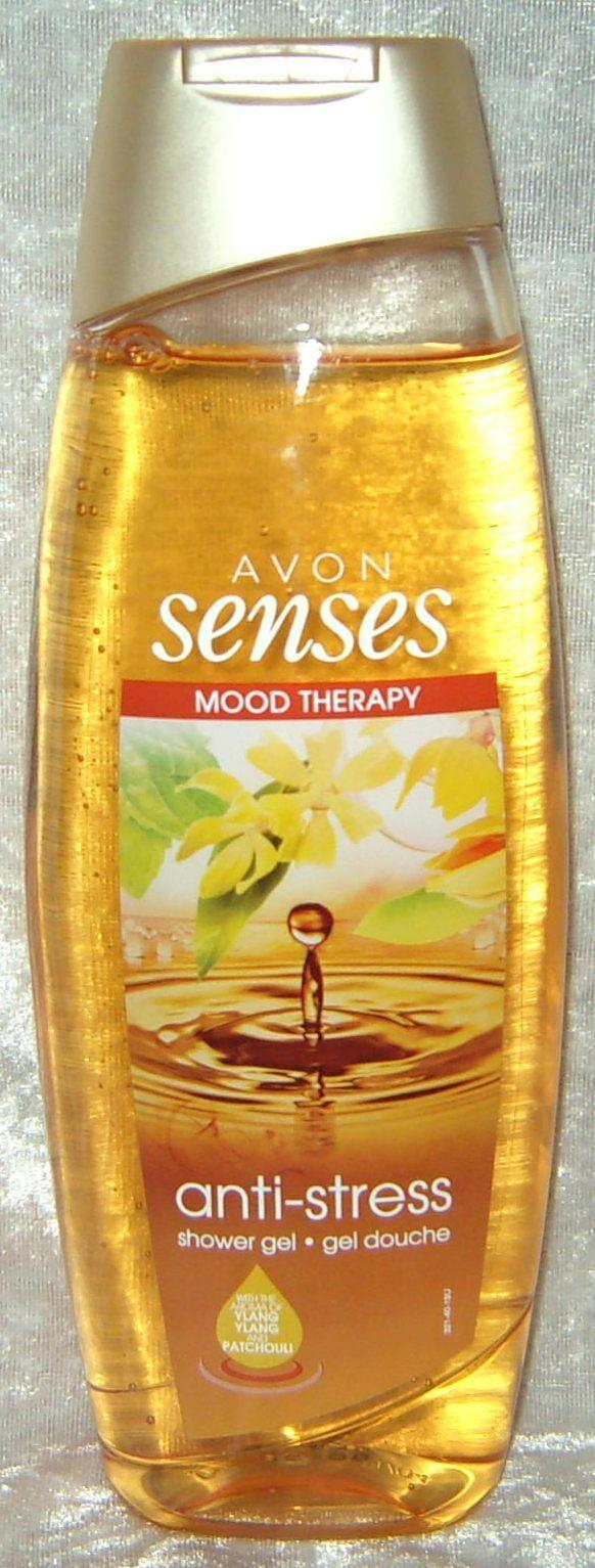(1,76€/100ml) AVON SENSES Anti-Stress Duschgel Bad 250 ml Ylang-Ylang Patschuli