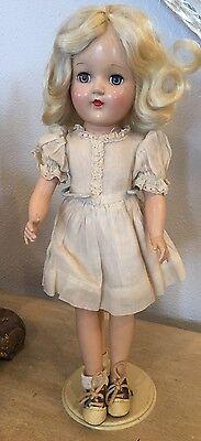 """Vintage Antique Ideal Toni P-90 14"""" Doll Blonde Pretty Dress"""
