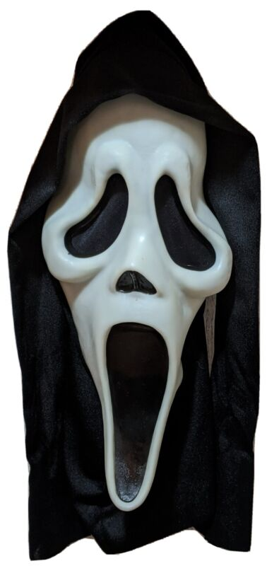 Vintage Scream Glow Ghost Face Mask Easter Unlimited Fun World Halloween Costume