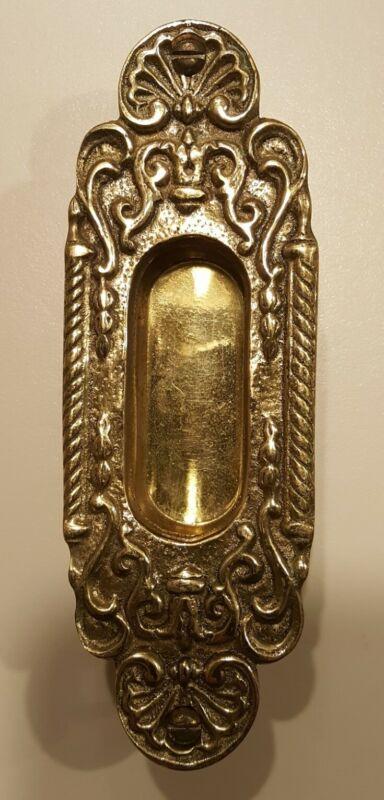 Set of 4-Vintage/Victorian Pocket Recessed Pulls-Brass-signed Signed CKC