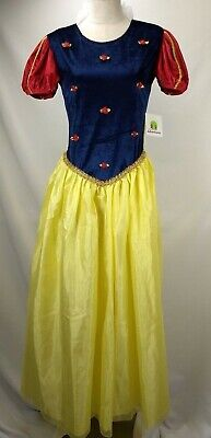 Adult Princess Snow White Costume S/M Little Adventures Deluxe Dress Cosplay New (Snow White Deluxe Adult Costume)